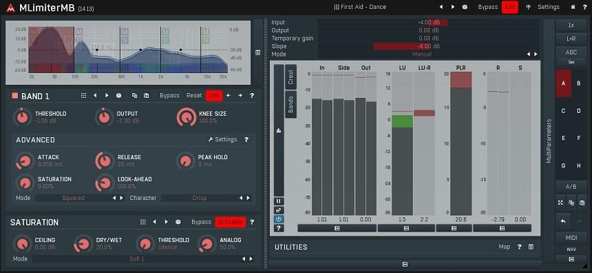 MeldaProduction MLimiterMB Review - Top 5 Multiband Limiter Plugins | Integraudio.com