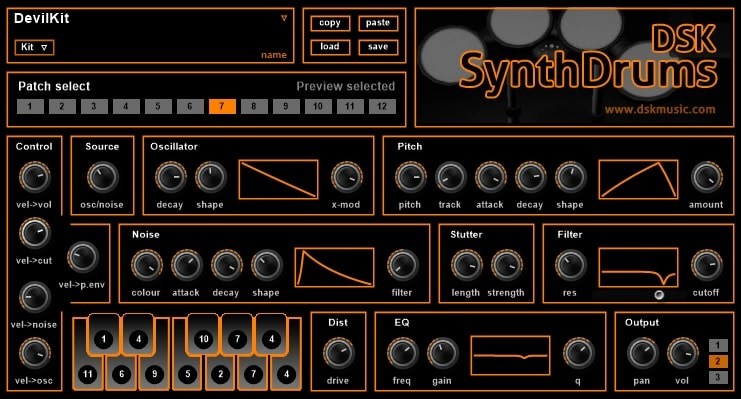 DSK SynthDrums Review - Top 5 Free Drums & Percussion Plugins | Integraudio.com
