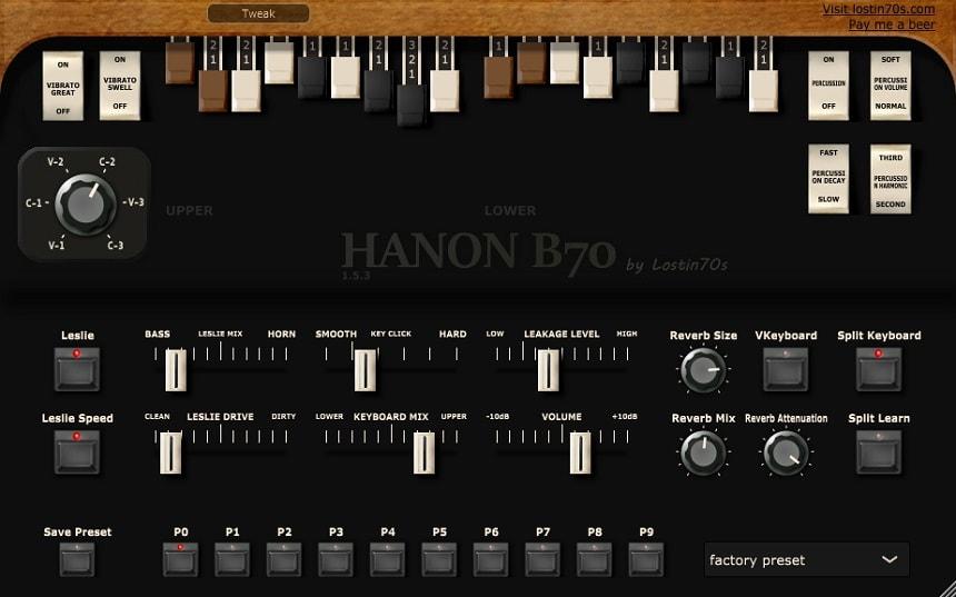 Lostin70s HaNon B70 Review - The 3 Best Free Organ Plugins   Integraudio.com