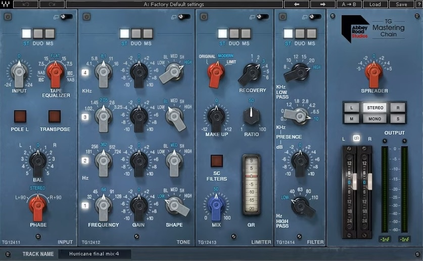 Waves Abbey Road TG Mastering Chain Review - Top 6 Mastering Chain Plugins | Integraudio.com