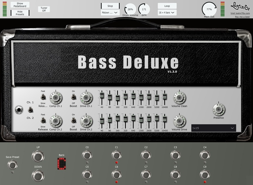 Lostin70s Bass Deluxe Review - The 6 Best FREE Bass Amp Plugins   Integraudio.com