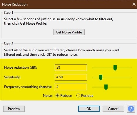 Audacity - noise reduction settings - How To Remove Background Noise From An Audio Recording? | Integraudio.com