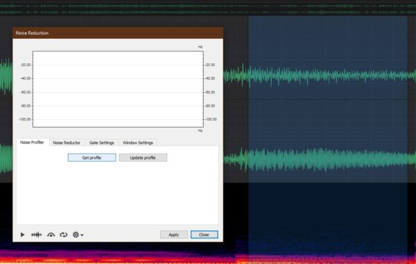 OcenAudio - select noise - How To Remove Background Noise From An Audio Recording? | Integraudio.com