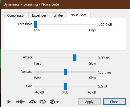 OcenAudio - Noise Gate - How To Remove Background Noise From An Audio Recording? | Integraudio.com | integraudio.com