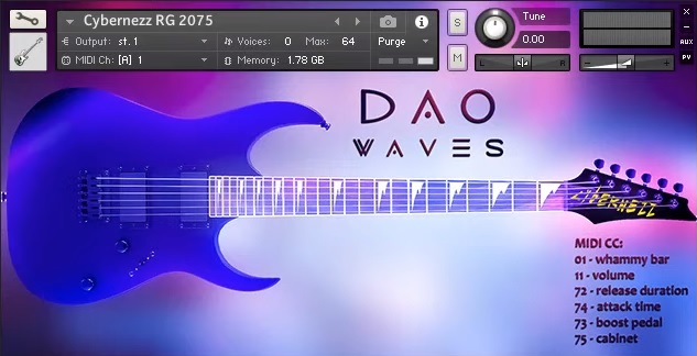 DAOWAVES CYBERNEZZ RG 2075 Review - The 3 Best Free Guitar Libraries For NI Kontakt   Integraudio.com