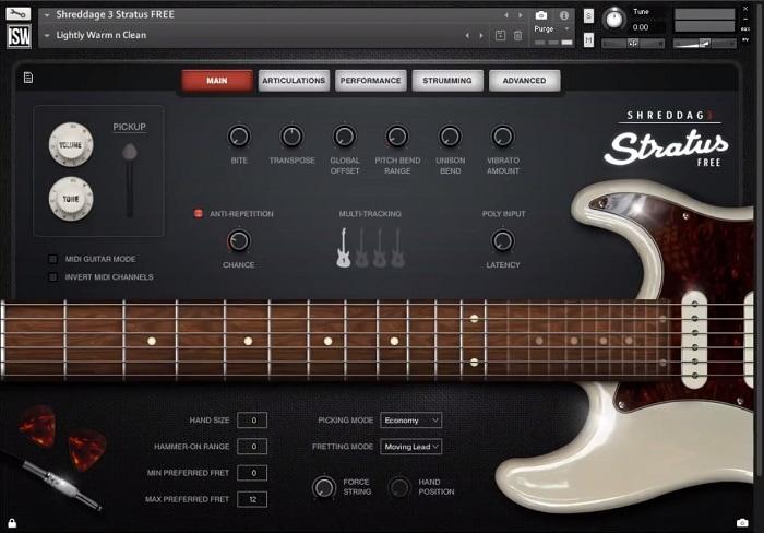 Impact Soundworks Shreddage 3 Stratus Review - The 3 Best Free Guitar Libraries For NI Kontakt   Integraudio.com