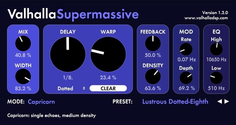 Valhalla Super Massive - 10 Best FREE Plugins For EDM | Integraudio.com