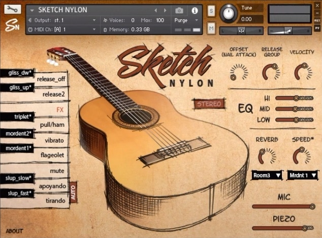 Sketch Nylon Review - Top 10 Guitar Kontakt Libraries (Best Acoustic, Electric, Bass Guitars & Freebies)   Integraudio.com